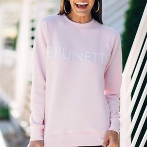 BRUNETTE THE LABEL Pink Crewneck Sweatshirt
